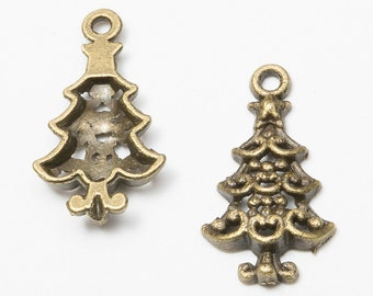 Christmas pendants etsy 1pcs ancient bronze christmas treeretro christmas pendantsdiy alloy jewelry accessoriesjewelry pendantscabochon retro accessory material aloadofball Image collections