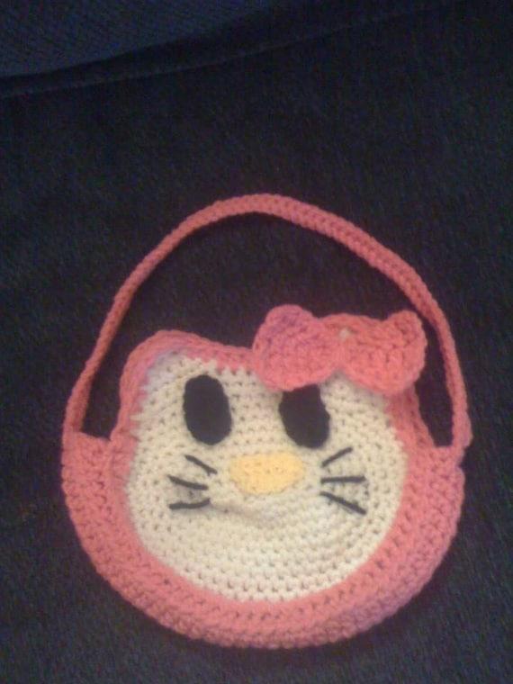 Hallo Kitty Tasche häkeln | Etsy