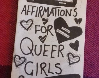 Affirmations for Queer Girls Blackout Poetry Zine