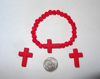 Crosses Bracelet and Earring Set