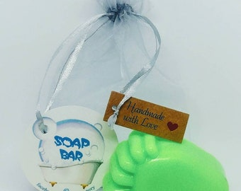 Natural Soap, Foot, Baby Soap, Handmade Soap, Glycerin Soap, Vegan Soap, Coconut Oil, Argan Oil, Baby Shower Gift, Soap Favors, Lemongrass