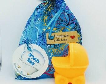 Natural Soap, Stroller, Baby Soap, Handmade Soap, Glycerin Soap, Vegan Soap, Coconut Oil, Argan Oil, Baby Shower Gift, Soap Favors, Orange