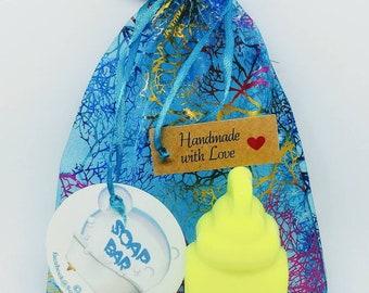 Natural Soap, Baby Bottle, Baby Soap, Handmade Soap, Glycerin Soap, Vegan Soap, Coconut Oil, Argan Oil, Baby Shower Gift, Soap Favors, Lemon