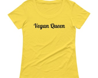 Vegan Queen Women's Comfy Premium  T Shirt -- Free Shipping in USA --