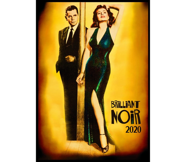 2020 Wall Calendar (12 pages) Vintage Movie Reprint Posters Girls Pinup  Film Noir M459