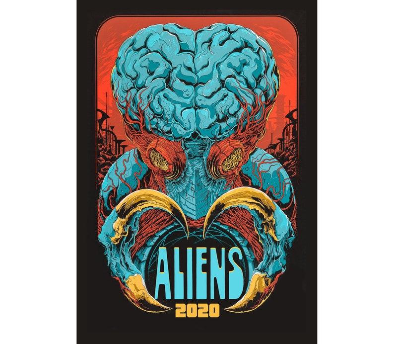 2020 Wall Calendar (12 pages) Vintage Movie Reprint Posters Horror Aliens  SciFi M425