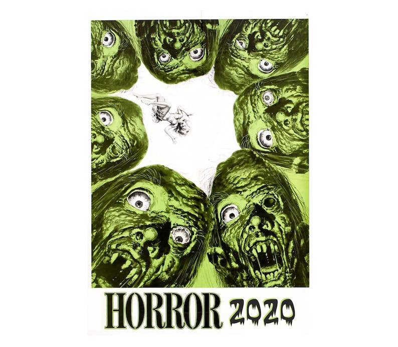 2020 Wall Calendar (12 pages) Vintage Movie Reprint Posters Horror Monster  M462