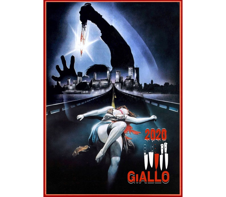 2020 Wall Calendar (12 pages) Vintage Movie Reprint Posters Giallo Horror  Thriller M434