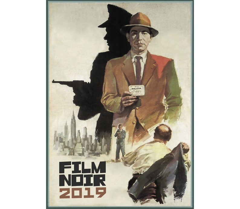 2019 Wall Calendar (12 pages) Vintage Movie Reprint Posters Film Noir  Hardboiled Detective M456
