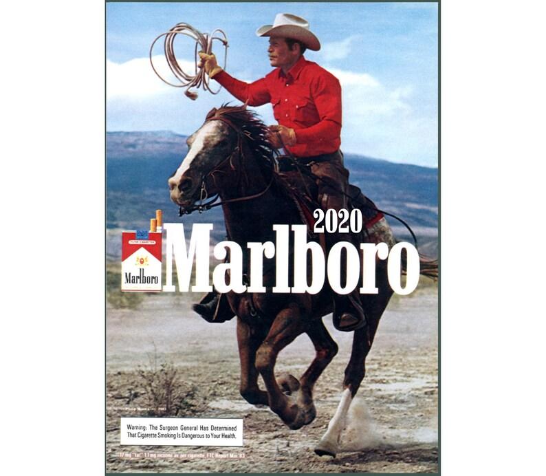 Marbaro Calendario 2020.2020 Wall Calendar 12 Pages Vintage Movie Reprint Posters Cowboy Marlboro Land M480