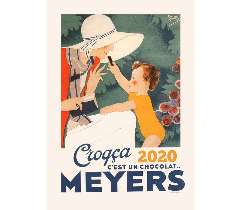 Calendario Marbaro 2020.2020 Wall Calendar 12 Pages Vintage Reprint Posters Ads Chocolat Art Deco M492
