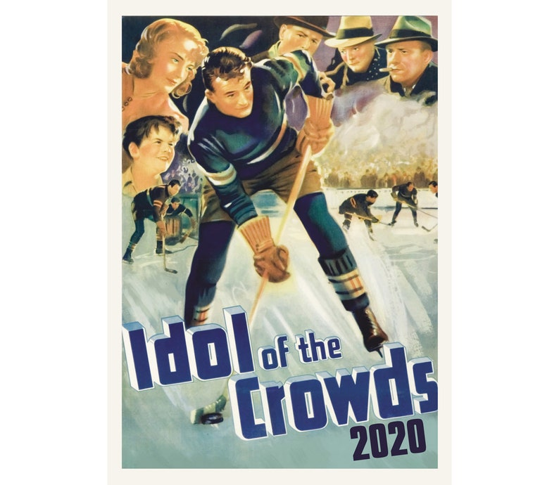2020 Wall Calendar (12 pages) Vintage Movie Reprint Posters Hockey M463