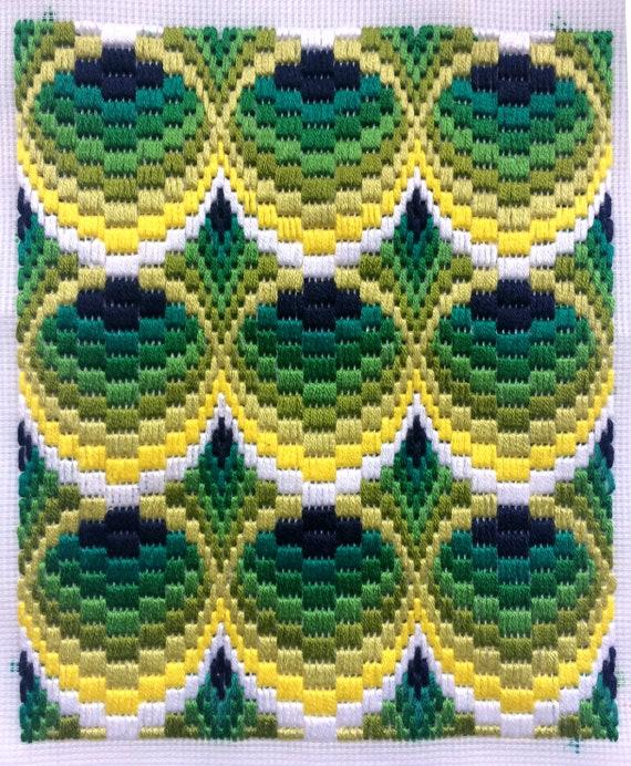 Bargello Needlepoint Florentine Long Stitch 3d Original Etsy