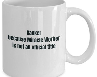 Banker gifts coffee travel cup mug gift men women