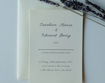 Elegant printable wedding invitations, modern rustic DIY wedding invites