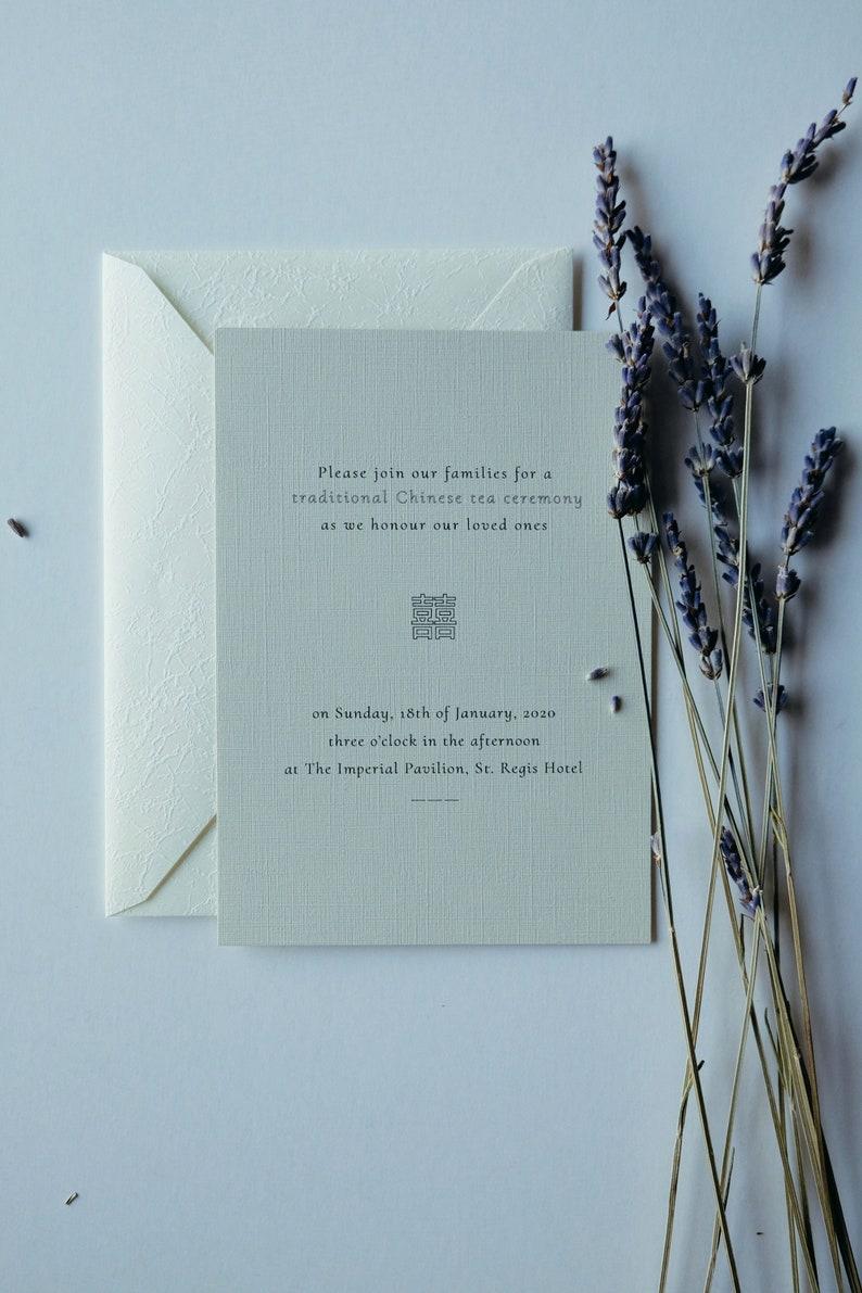 Printable Chinese tea ceremony invitation, printable Chinese wedding cards,  modern chinese wedding invite double happiness