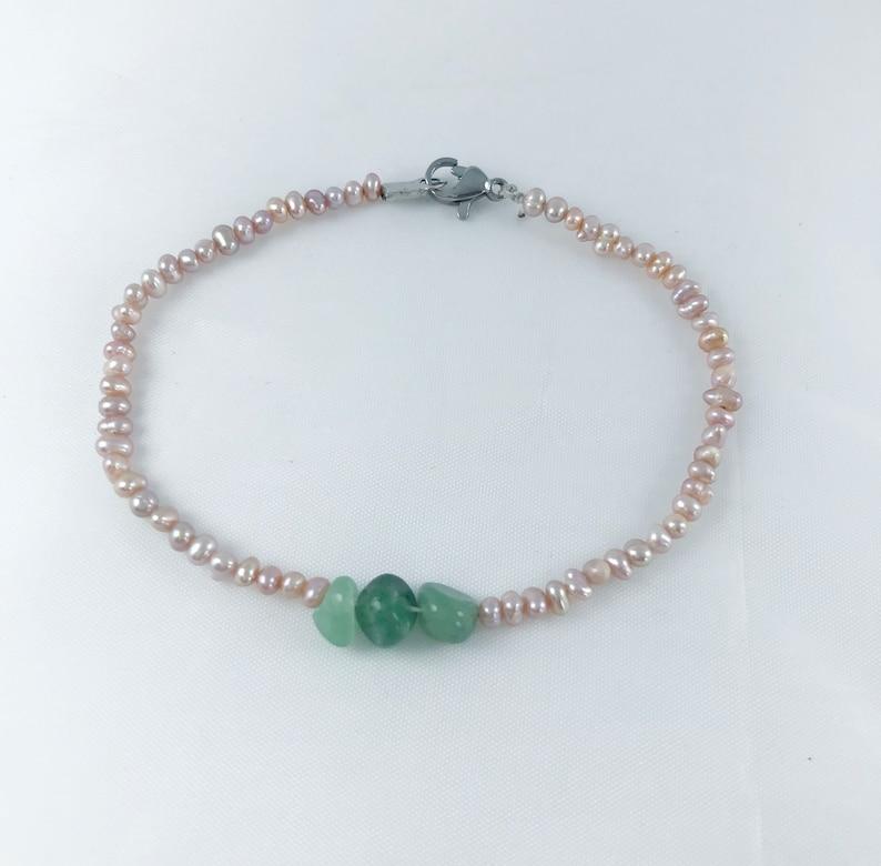 Pink Pearl Bracelet 2mm Freshwater Pearl Bracelet Mini Simple Bracelet Mini Pearl Bracelet Green Dongling Pearl Bracelet Friends Gift