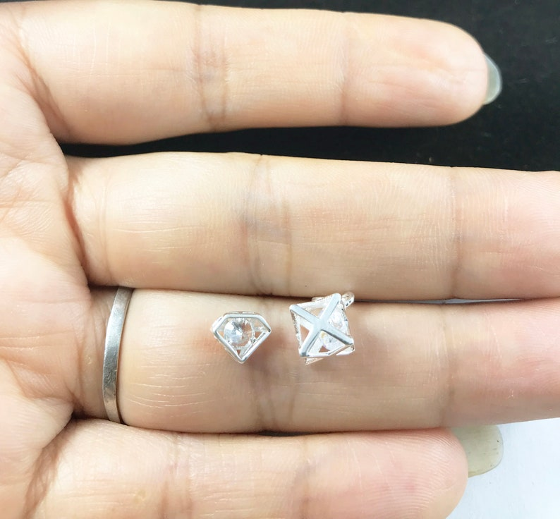 Mini Moon Necklace,Mini Diamond Necklace,Zircon Stereo Hexagon Star,Zircon Moon Pendant,Christmas Gift,Hollow Moon Pendant,Initial Necklace