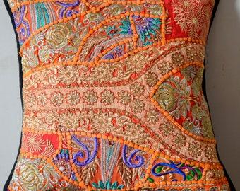 Handmade Tribal Decorative Cushion Cover Indian Patchwork Pillow Ck-136