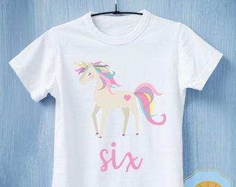 Unicorn Birthday Shirt, Unicorn Birthday outfit, Girls Birthday Shirt, Unicorn Party, Unicorn shirt, 6th, 5th, 4th, 3rd, 2nd, 1st birthday