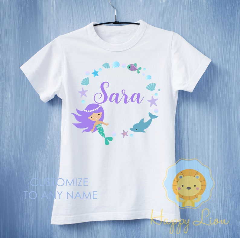 ee3405d6f8d9 mermaid shirt mermaid custom mermaid shirt mermaid birthday