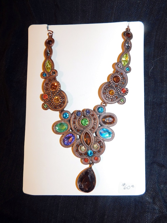 Baroque Mid-Century Statement Necklace