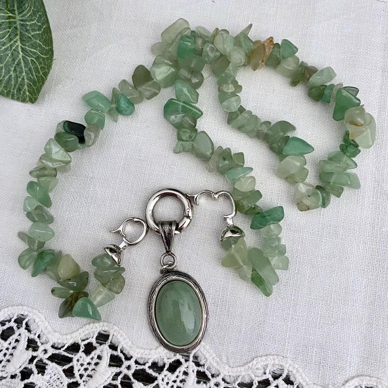 Green aventurine pendant necklacechakra jewellerygemstone jewelrygift for heraustralian sellerboho hippie necklacebohemian jewelry