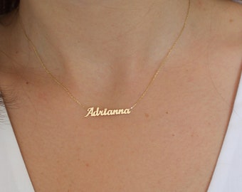 Name Necklace Personalized My name necklace Engraved Name necklace Name Necklaces for Women in Golden Silver