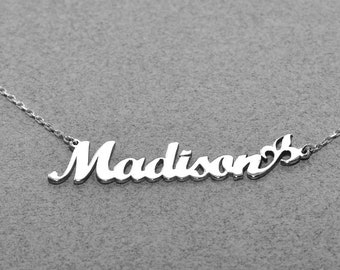 Personalized Name Jewelry • Tiny Name Necklace • Baby Girl Name Necklace • Dainty Name Charm • Bridesmaid Gift • Baby Shower Gift