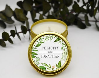 Baby Shower Birthday Party Candle Favors Candle Tin Favors Wedding Candle Favors Bridal Shower Favors Round Blank Candle Tins