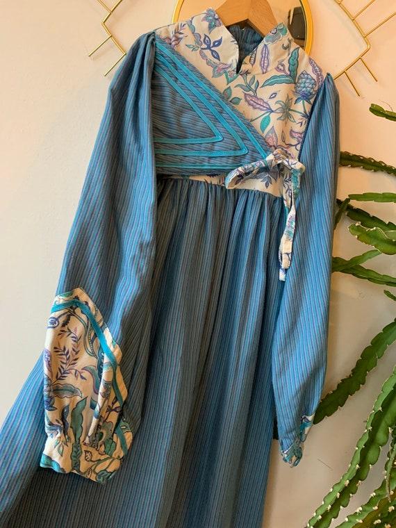 Vintage kids bohemian cotton dress