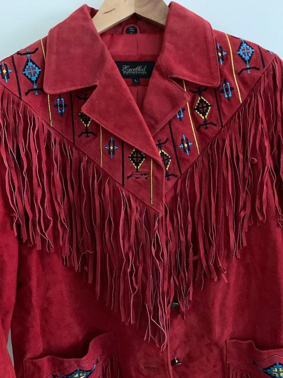 Vintage 1970's fringe suède jacket - image 9