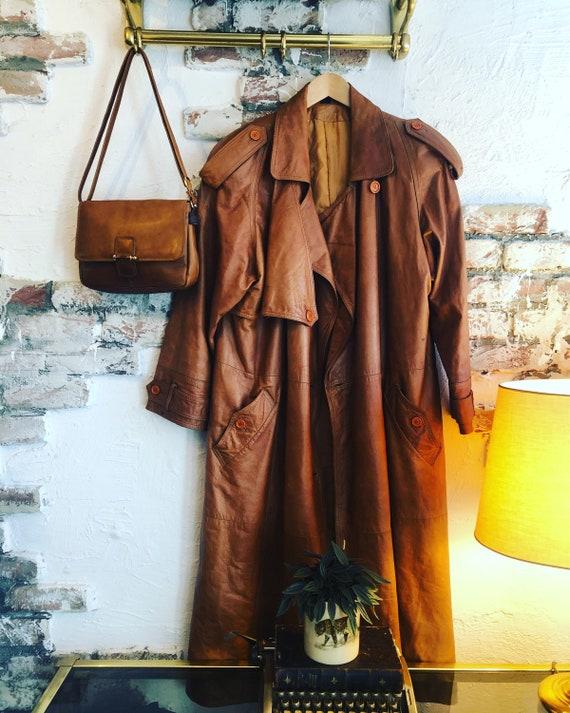 Vintage Leather Trenchcoat