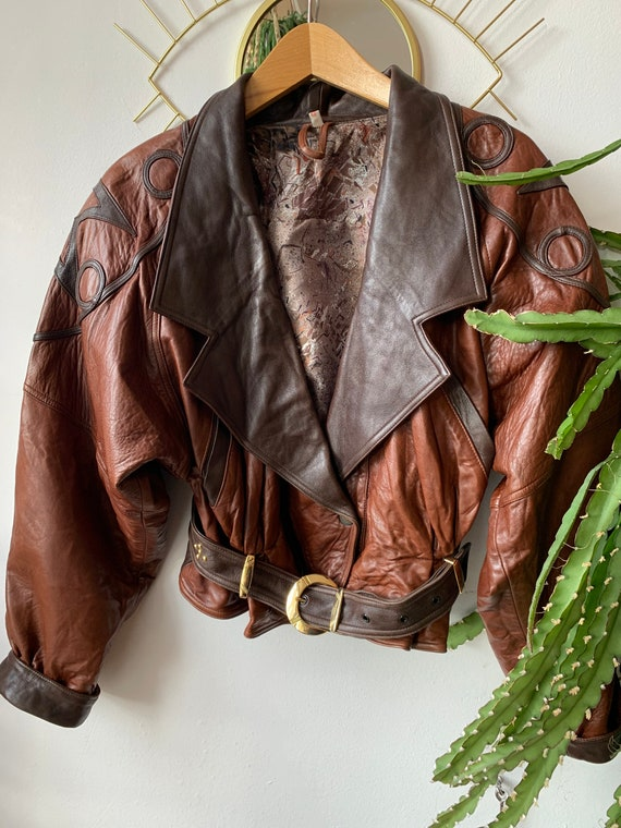 1980s brown Leather Jacket