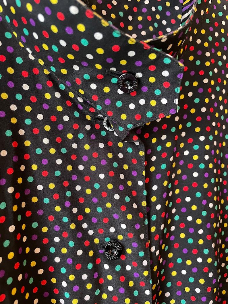 Vintage polkadot stripe blouse