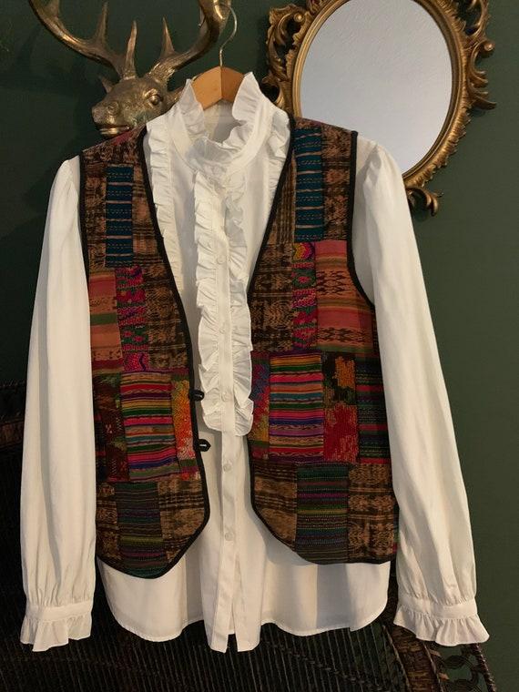 Vintage Guatemala waistcoat