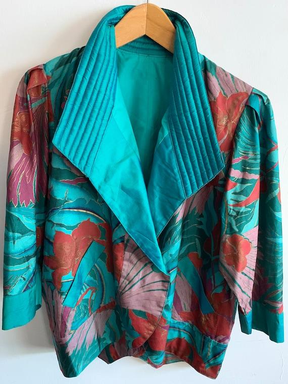 Vintage Silk Tropical Jacket