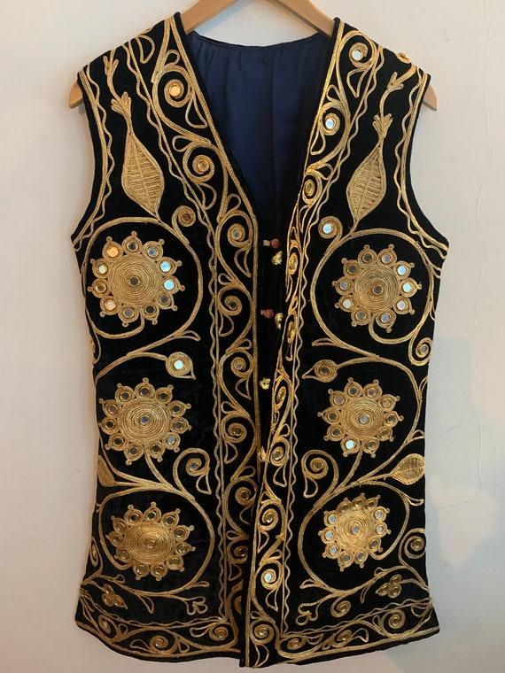 Vintage Afghan velvet waistcoat