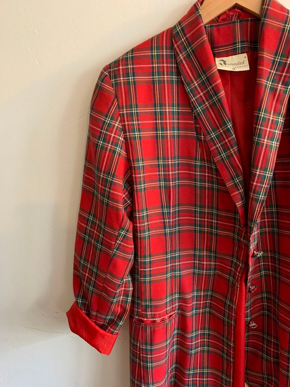 Vintage tartan blazer - image 8