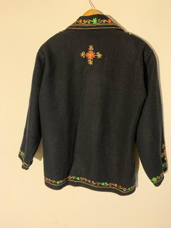 Vintage wool Embroidered coat - image 4