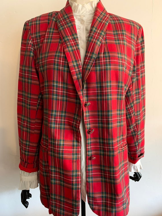 Vintage tartan blazer - image 2