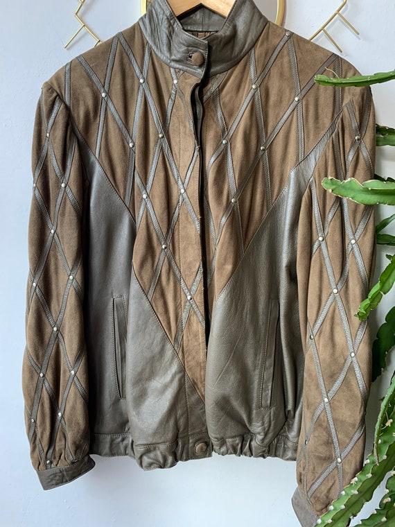 80s soft Leather suède jacket