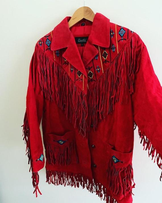 Vintage 1970's fringe suède jacket
