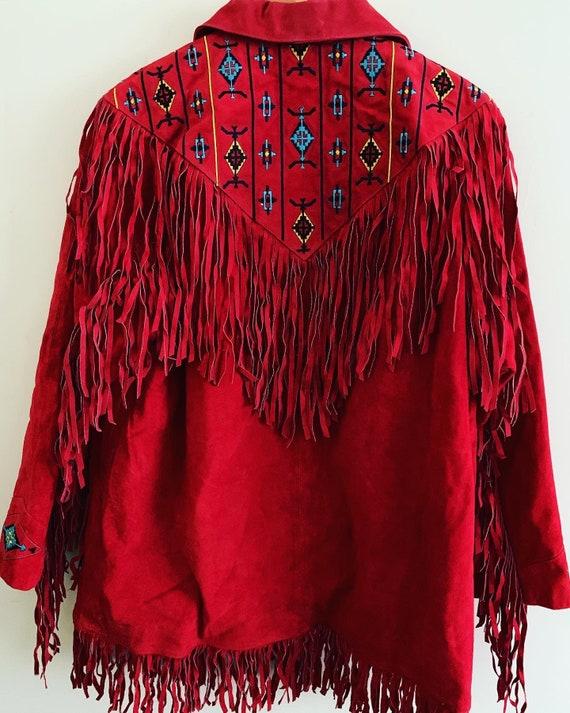 Vintage 1970's fringe suède jacket - image 4