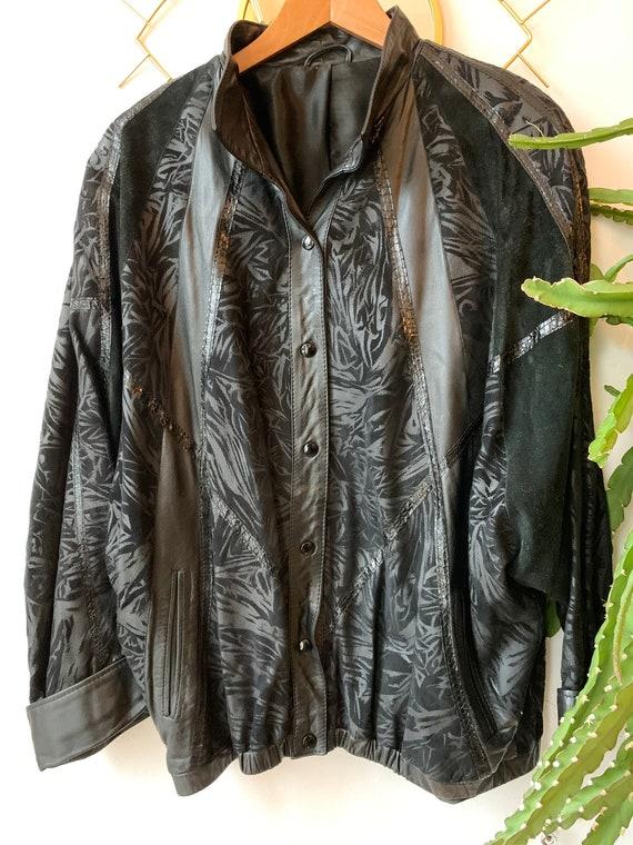 Vintage 80s oversized leather suede jacket