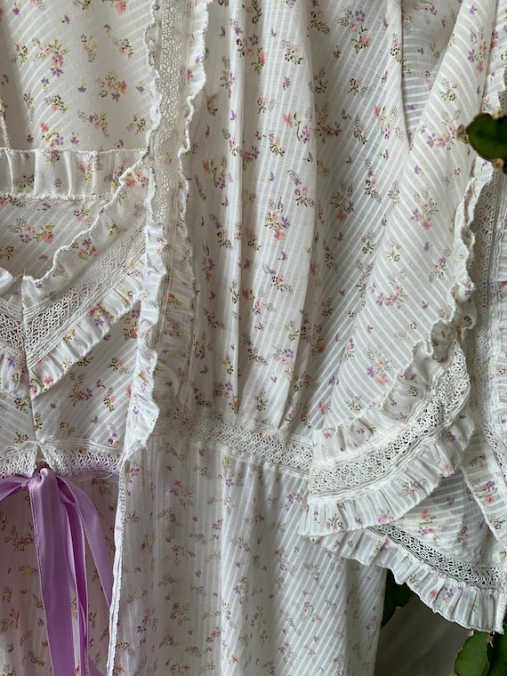 Vintage 70s two pieces night gown
