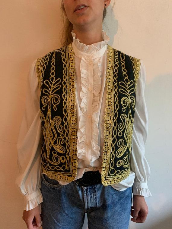 Vintage Afghan 1970s waistcoat