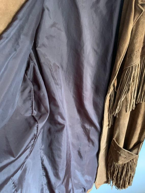 Vintage Suede fringe jacket - image 4