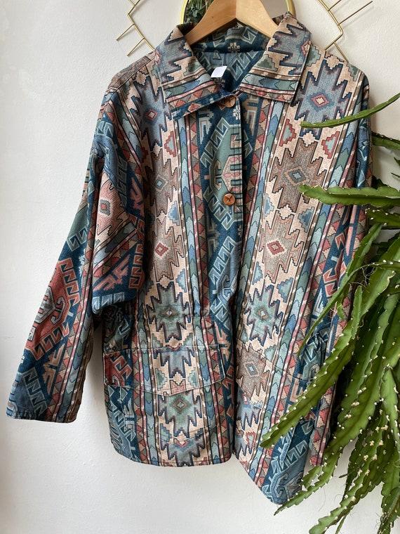 Vintage bohemian Denim reversible jacket