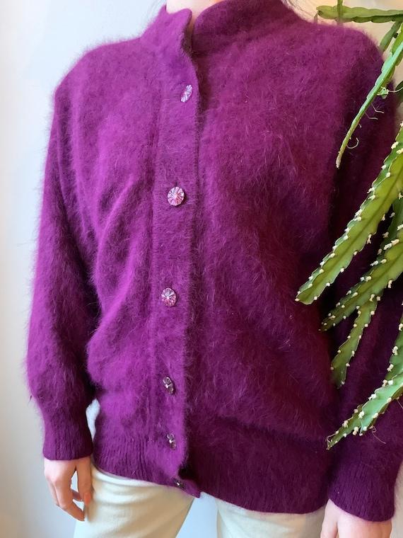 Angora wool vintage cardigan